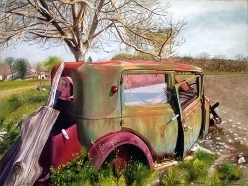 Toiles sur toile for Salon vieilles voitures